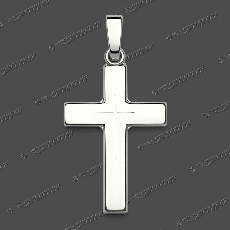 43-0333 SRh Kreuz massiv 20x14mm