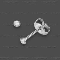 21-020-006 SRh 925 Stecker 2,5mm - Brillant