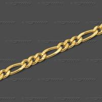 41.3081 GG Fußkette Figaro 3mm