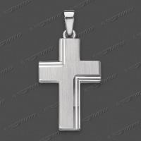 43-0028 SRh Kreuz massiv 19x13mm