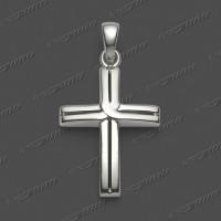 43-0072 SRh Kreuz massiv 18x13mm