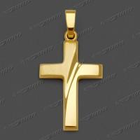 43-0081 GG Kreuz halbmassiv 20x14mm