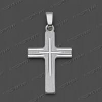 43-0142 SRh Kreuz massiv 20x14mm