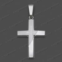 43-0144 SRh Kreuz massiv 24x16mm