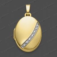 45-0059 GRh Medaillon 18x13mm