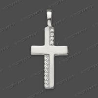 53-0025 SRh Kreuz massiv 20x12mm
