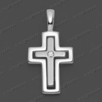 53-0032 SRh Kreuz massiv 18x13mm