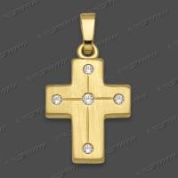 53-0057.90 GG 585 Kreuz massiv 16x13mm