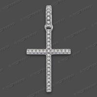 53-0094 SRh Kreuz massiv 20x13mm