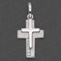 53-0099 SRh Kreuz massiv 20x14mm