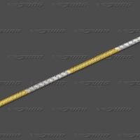 56.1012 GRh Schlange rund massiv 1,2mm