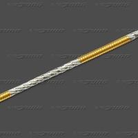 56.1016 GRh Schlange rund massiv 1,6mm