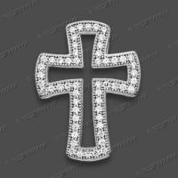 63-0004 SRh Kreuz massiv 20x14mm
