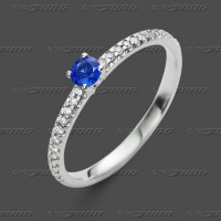 72-0123.31 WG 585 Ring 2mm - Brillant