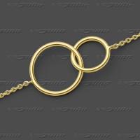 81.1245 GG Armband m.Zwischenteil